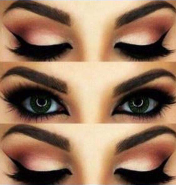 makeup with eyelash extensions