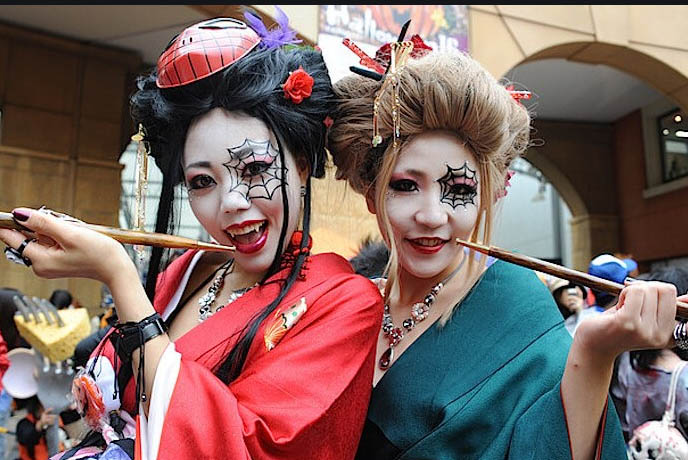 japanese style of halloween cosplay