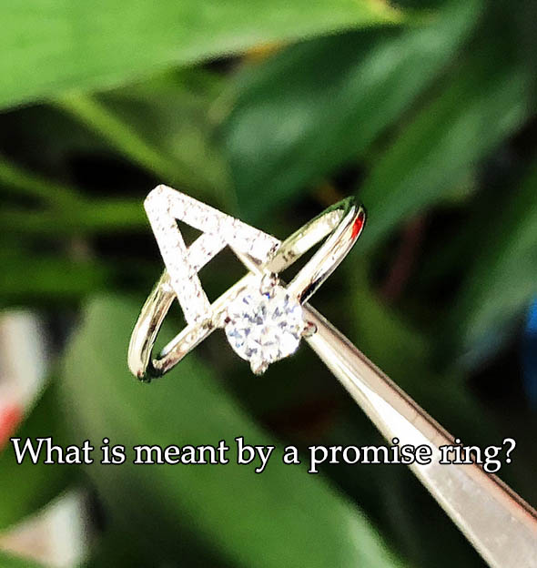What is meant by a promise ring