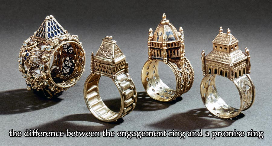 the difference between the engagement ring and a promise ring
