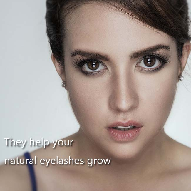 They help your natural eyelashes grow